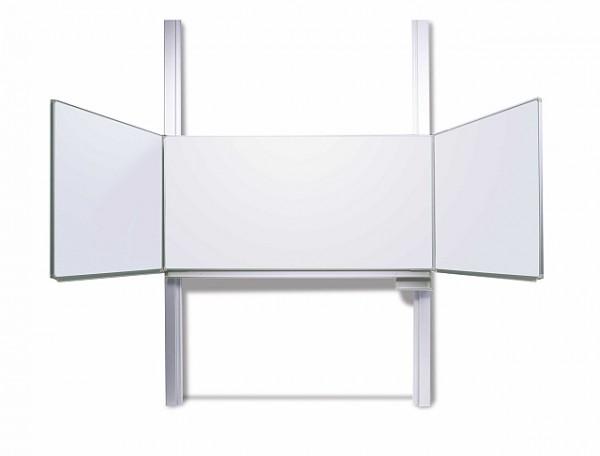 Pylonentafel mit Flügeln - Oberfläche weiß Whiteboard