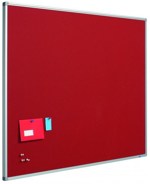 Langwandtafel / Pinboard mit Stoffoberfläche rot - diverse Maße