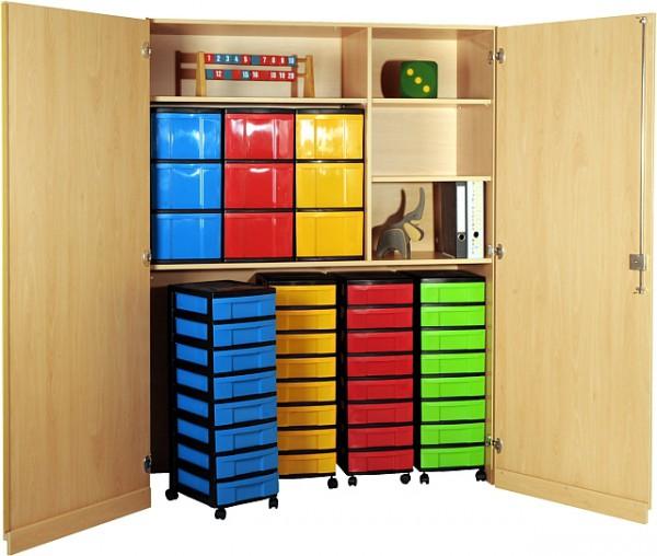 Garagenschrank mit 4 fahrbaren Modulboxen