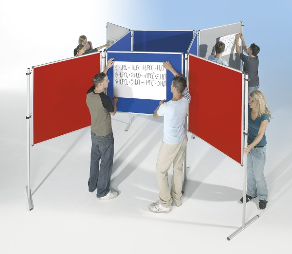 LB Stellwandtafel 150 x 120 cm mit Stoffoberfläche
