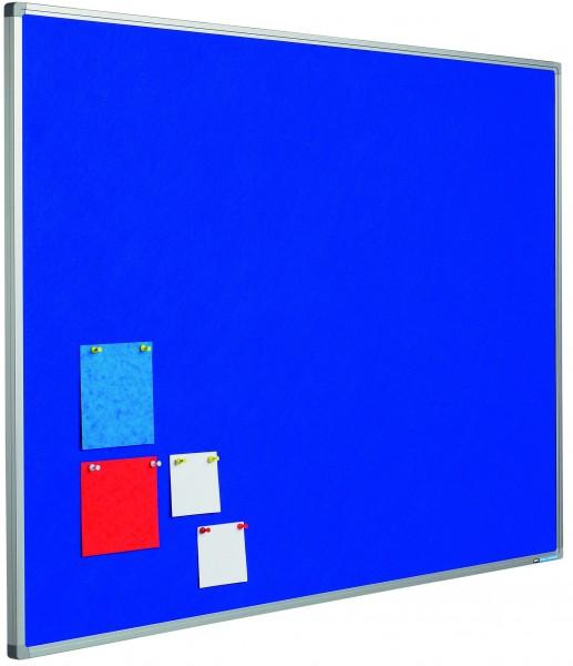 Langwandtafel / Pinboard mit Stoffoberfläche blau - diverse Maße