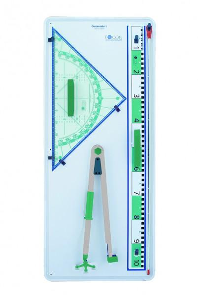 Gerätetafel mit 60 cm Geodreieck