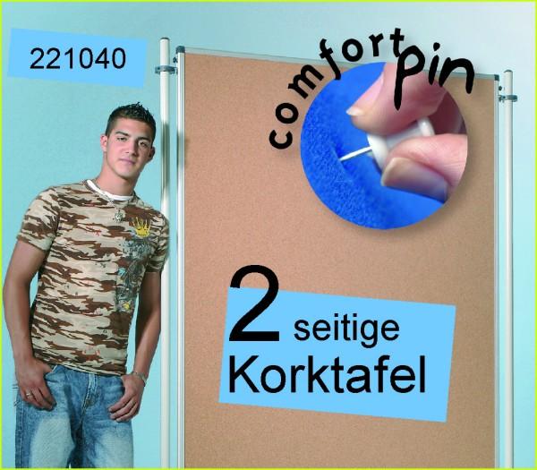 LB Stellwandtafel 150 x 120 cm mit Korkoberfläche