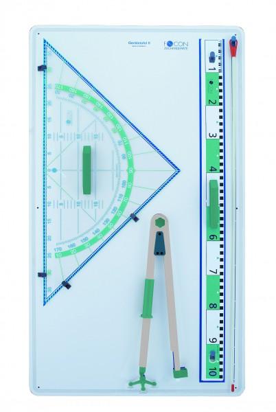 Gerätetafel mit 80 cm Geodreieck