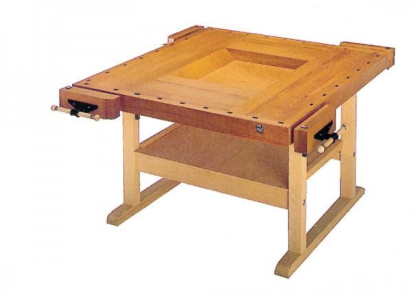 Werkbank für 4 Schüler - Holzuntergestell