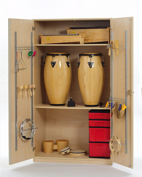Großer Musikschrank mit Kleininstrumentecontainern