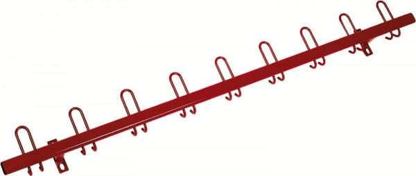 Wandgarderobe 200 cm, einfarbig mit Haken nach hinten