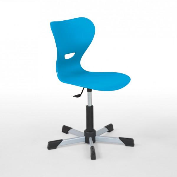 Drehstuhl feststehend mit Kunststoffsitzschale