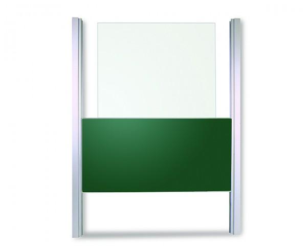 Pylonentafel mit einer Schreibfläche - grün