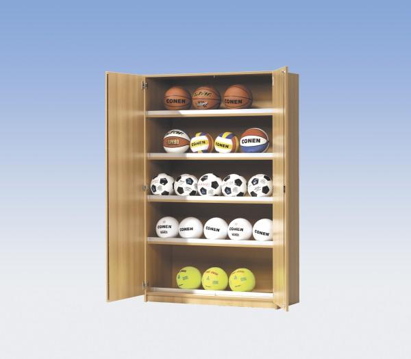 Sportgeräteschrank für die Ballaufbewahrung